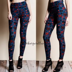 Pants - Heart Print Super Soft Leggings